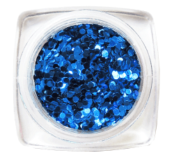 Glitter Single Colour Round 1mm Dark Blue