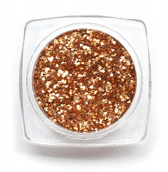 Glitter Single Colour 0,4mm Light Bronze
