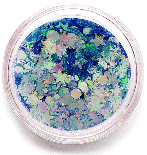 Glitter Mix Shining Blue