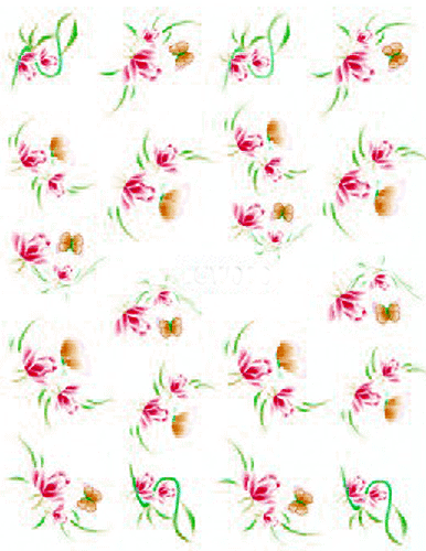 Spring Flowers - Nail Sticker Water 008